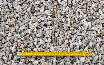 Graviers 10-16 concassés lavés quartz blanc