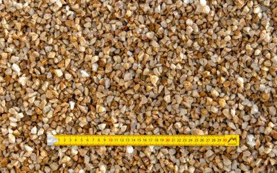 Graviers 10-16 concassés lavés quartz jaune