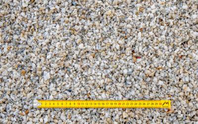 Graviers 6-10 concassés lavés quartz blanc