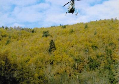 hélicoptère transport sac