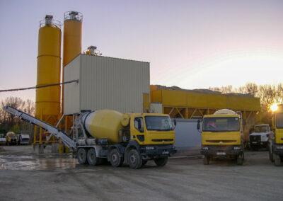 camions boules béton