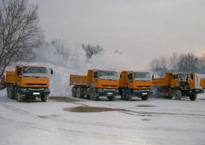 camion sous la neige