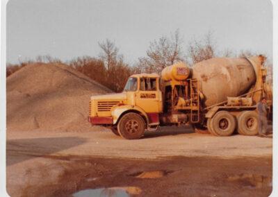 camion boule béton