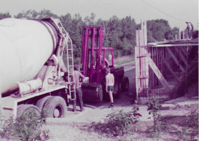 camion boule centrale béton