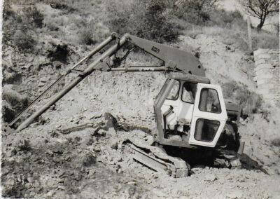 vielle pelle mécanique vintage photo noir et blanc